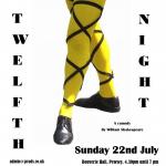 Twelfth night yellow stocking poster V1